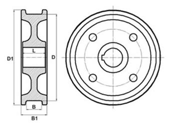 крановое колесо двухребордное